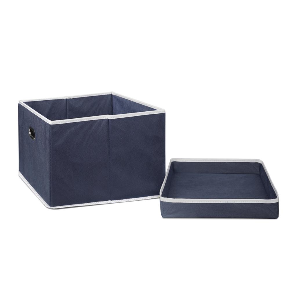 Non-Woven Fabric Heavy-Duty Storage Organizer, Dark Blue. Picture 4