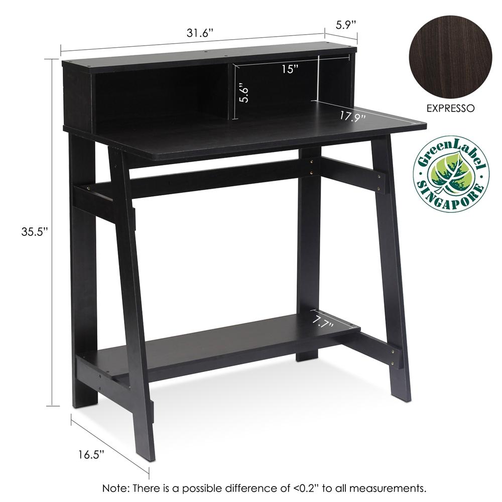 Simplistic A Frame Computer Desk, Espresso. Picture 2