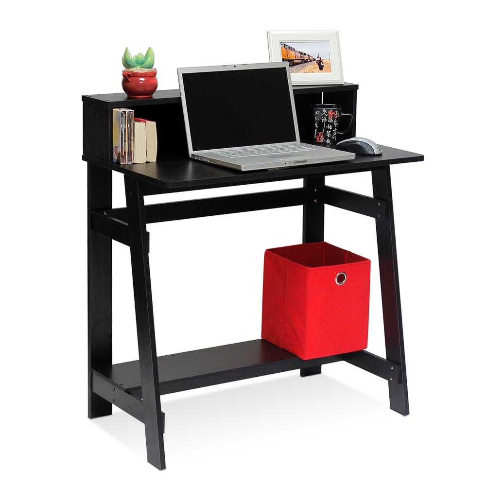 Simplistic A Frame Computer Desk, Espresso. Picture 3