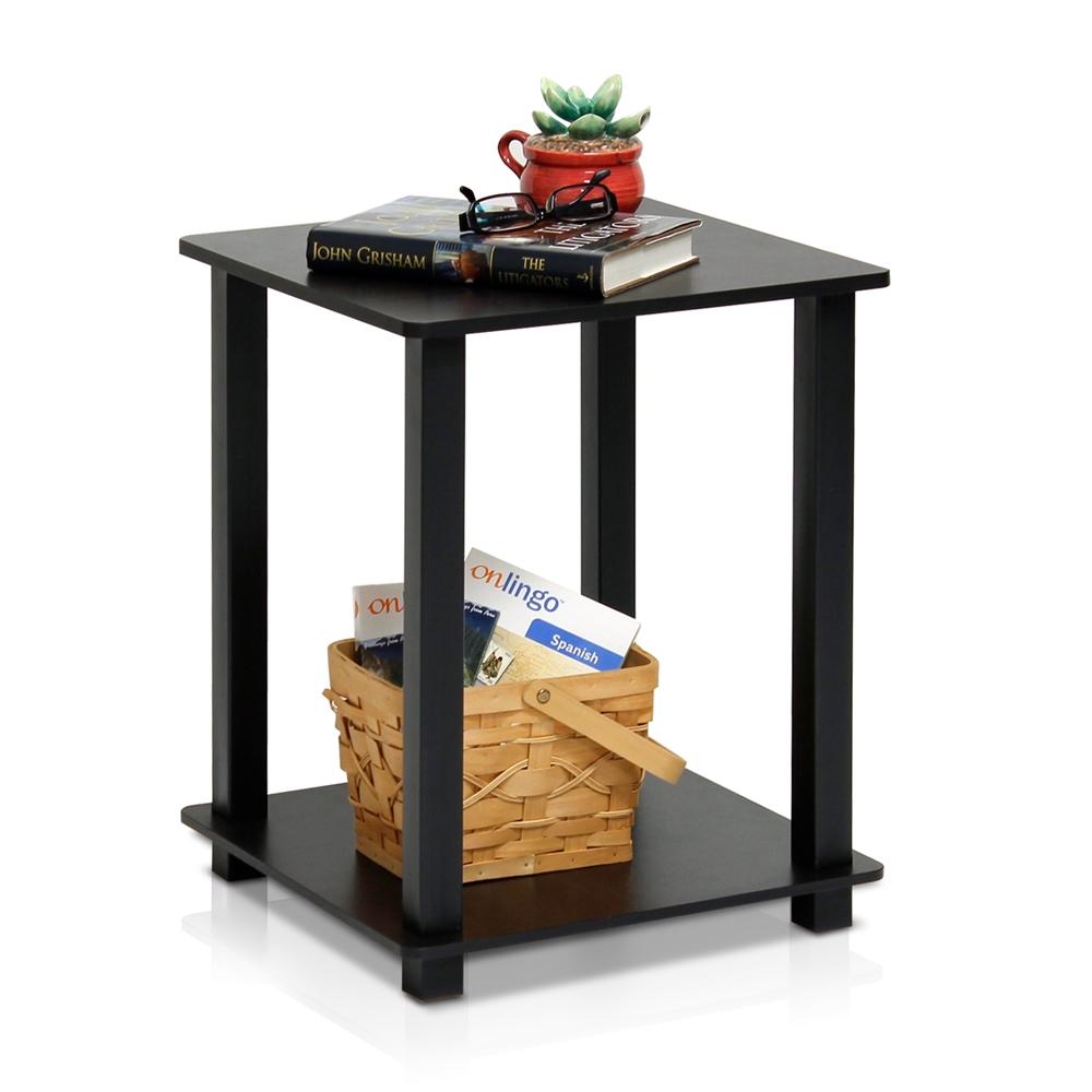 Simplistic End Table, Set of Two, Espresso/Black. Picture 3