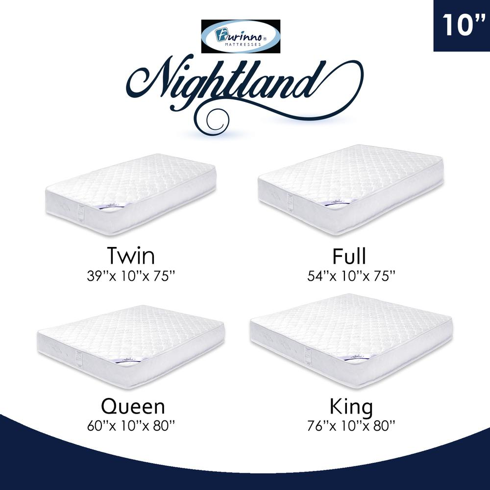 Furinno Nightland 10-Inch Luxurious Pocket Coil Mattress, King. Picture 3