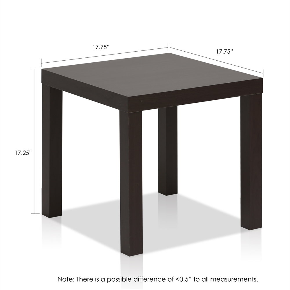 Classic Cubic End Table, Set of Two, Espresso. Picture 2