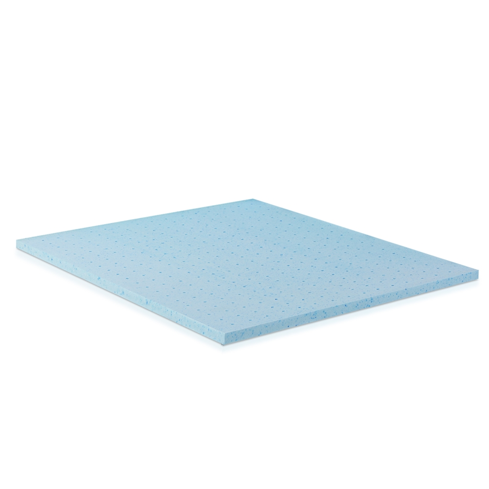 Angeland HealthySleep 2 INCH Cool Gel Ventilated Memory Foam Mattress Topper, CertiPUR-US Certified, 5 Year Warranty, KING. Picture 1