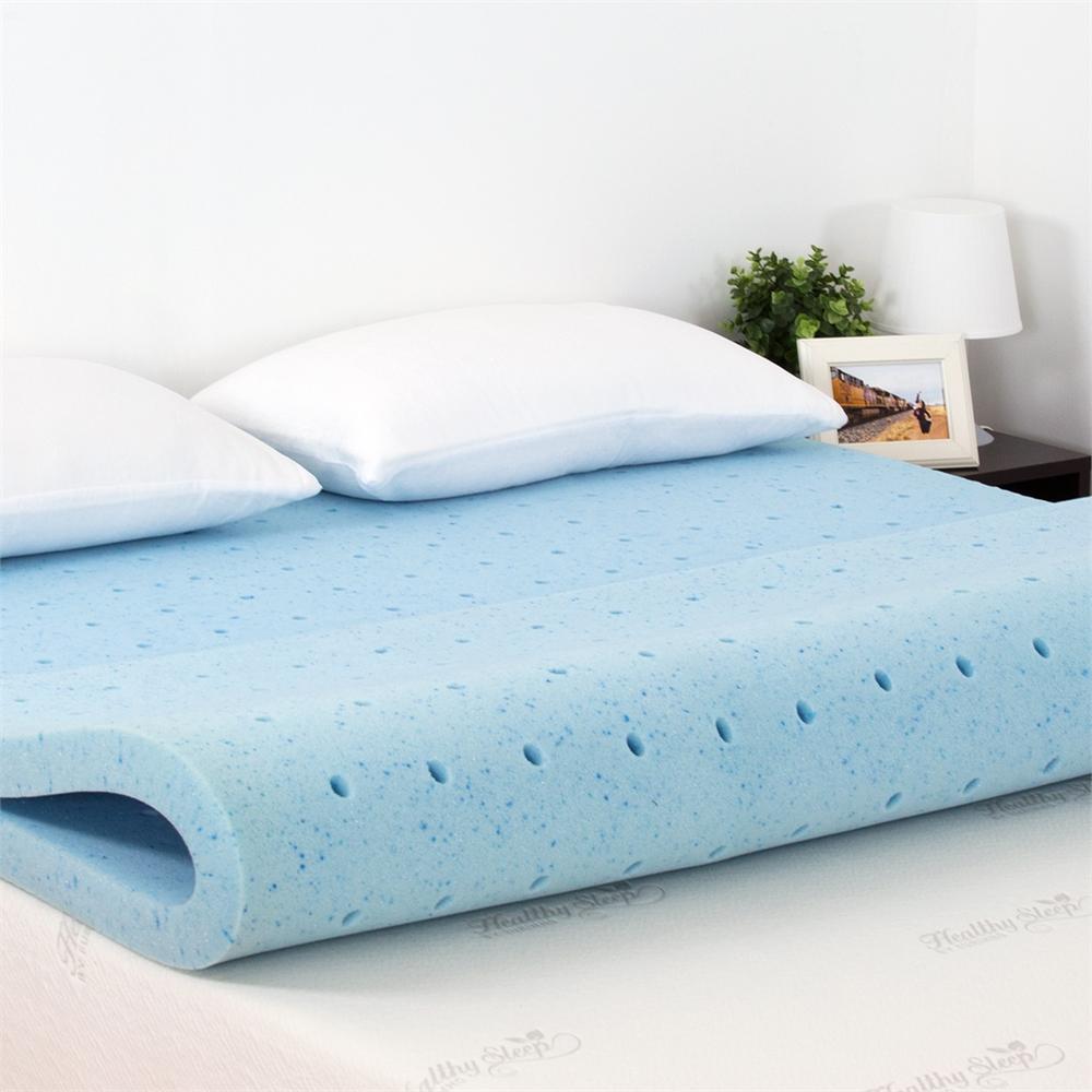 Angeland HealthySleep 2 INCH Cool Gel Ventilated Memory Foam Mattress Topper, CertiPUR-US Certified, 5 Year Warranty, KING. Picture 4