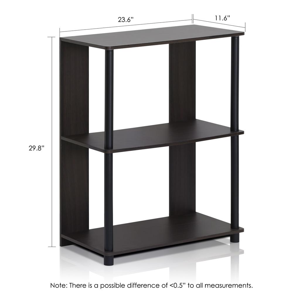 JAYA Simple Design Bookcase, Walnut,. Picture 2