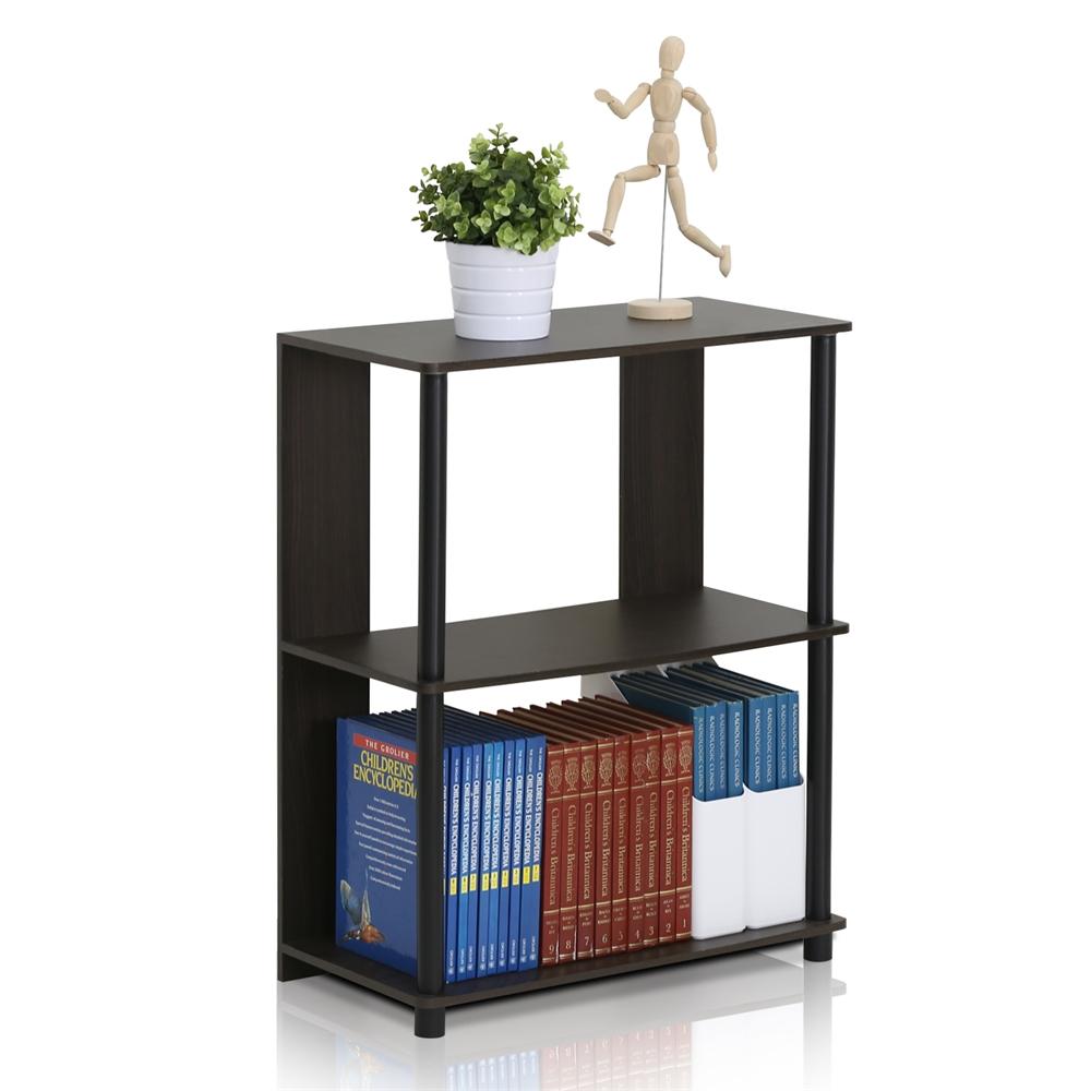 JAYA Simple Design Bookcase, Walnut,. Picture 3