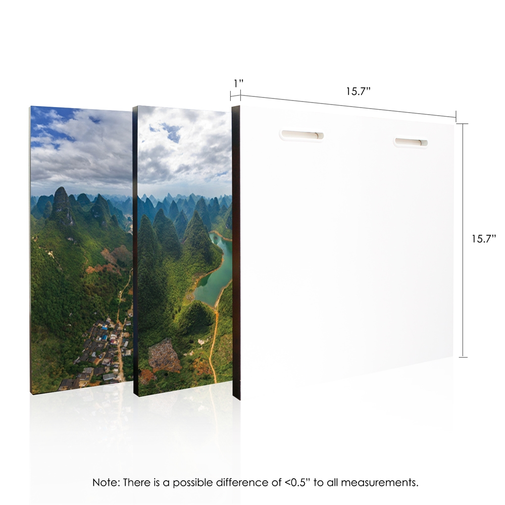 SeniA Finest Under Heaven 3-Panel MDF Framed Photography Triptych Print, 48 x 16-inch. Picture 2