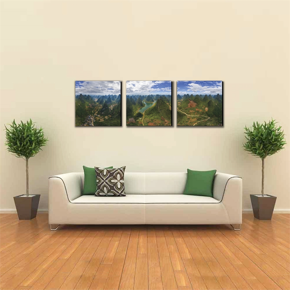 SeniA Finest Under Heaven 3-Panel MDF Framed Photography Triptych Print, 48 x 16-inch. Picture 3
