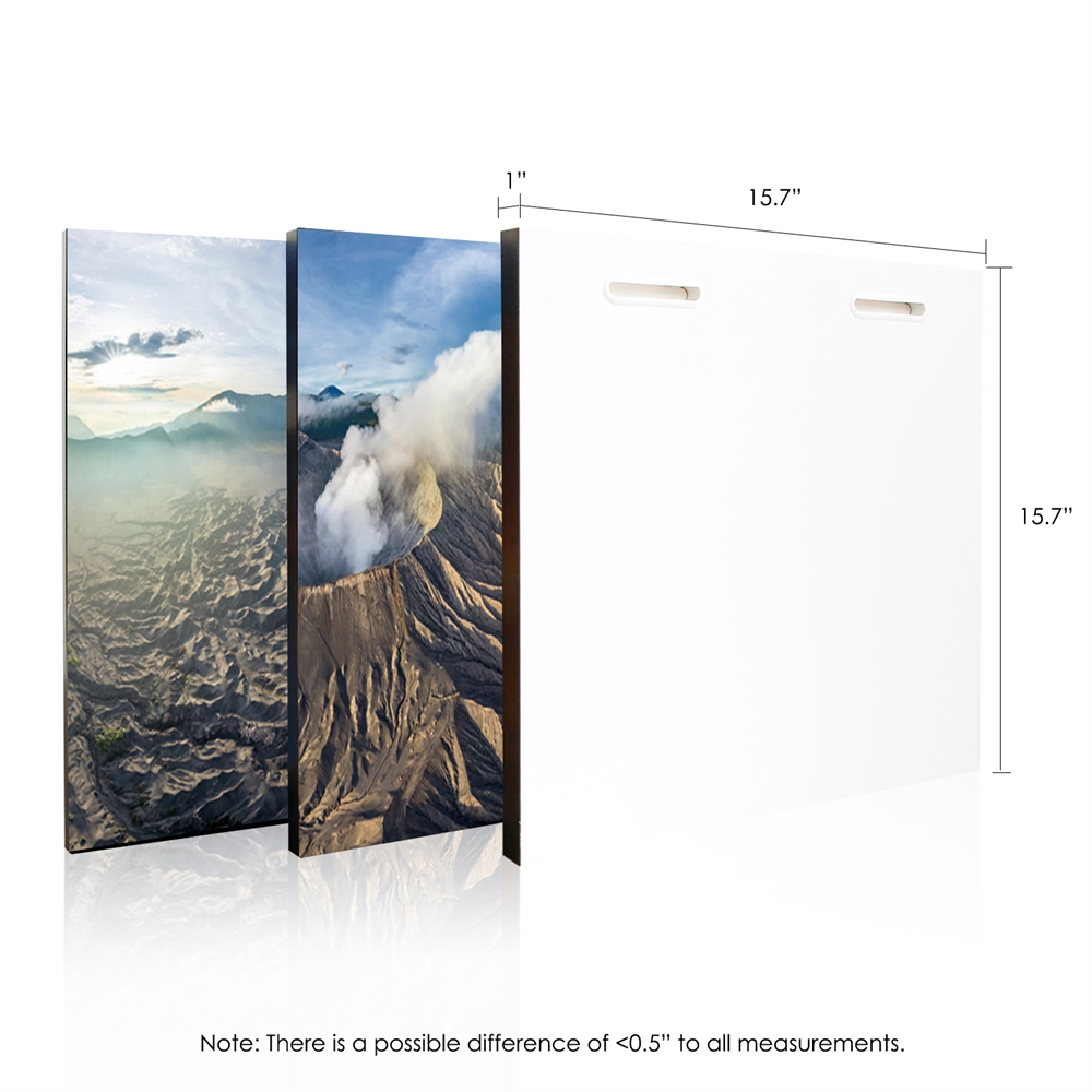 SeniA Gunung Bromo 3-Panel MDF Framed Photography Triptych Print, 48 x 16-inch. Picture 2
