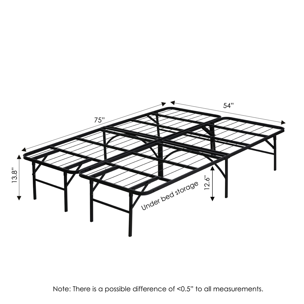 Angeland Mattress Foundation Platform Metal Bed Frame, Full,. Picture 2