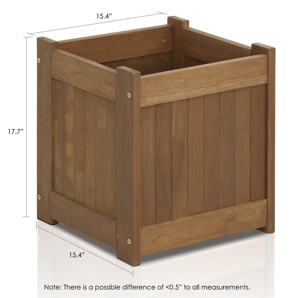 Tioman Hardwood Flower Box in Teak Oil. Picture 2