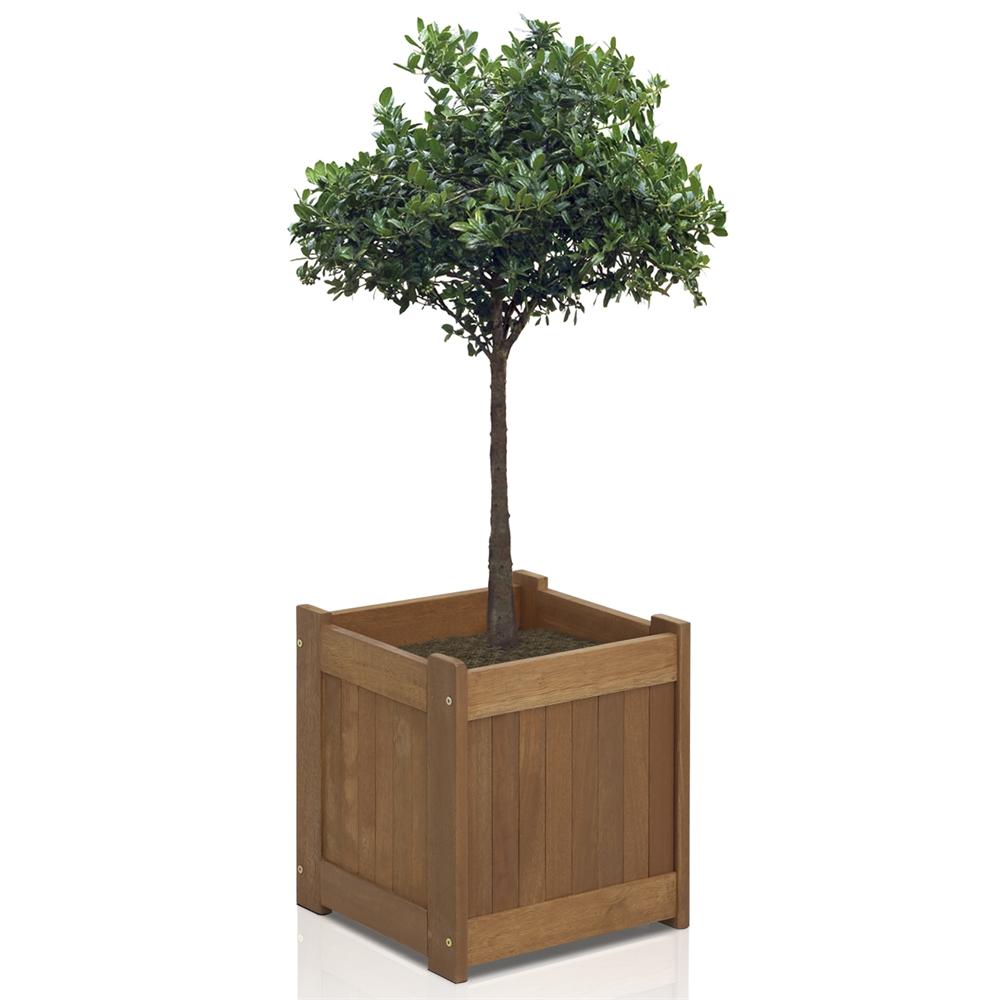 Tioman Hardwood Flower Box in Teak Oil. Picture 4