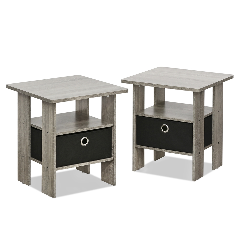 Petite End Table Bedroom Night Stand Set Of Two
