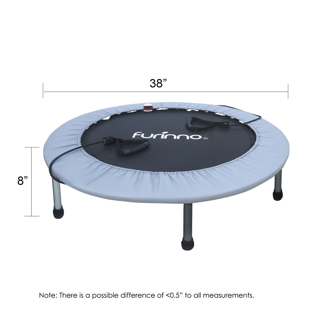 38 Inch Trampoline with Monitor and Resistance Tube. Picture 2