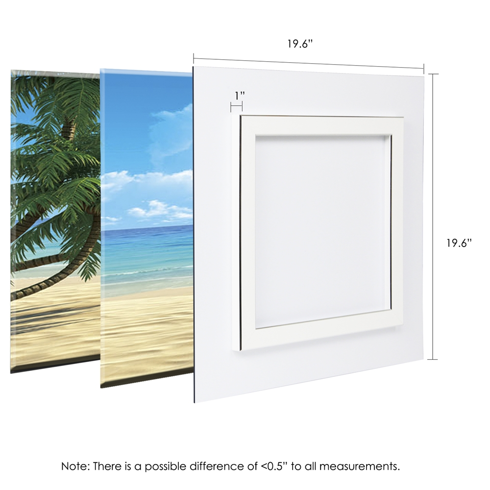SENIC Coconut Tree and Chair 3-Panel Acrylic Photography, 60 x 20-in. Picture 2