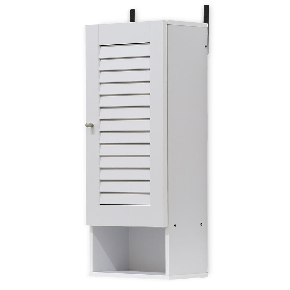 Furinno Indo Slim Wall Cabinet, White 16069WH. The main picture.