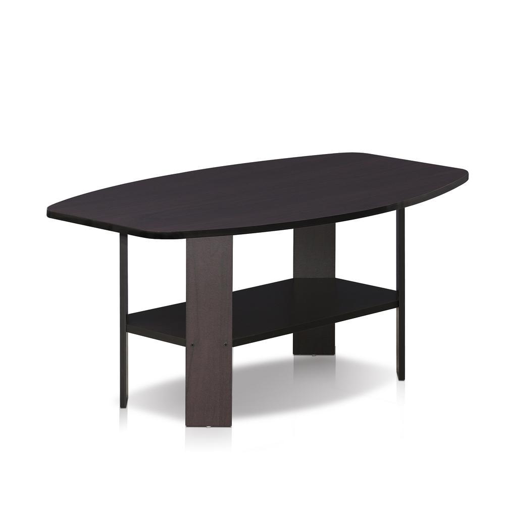 Furinno Simple Design Coffee Table, Dark Walnut. Picture 3