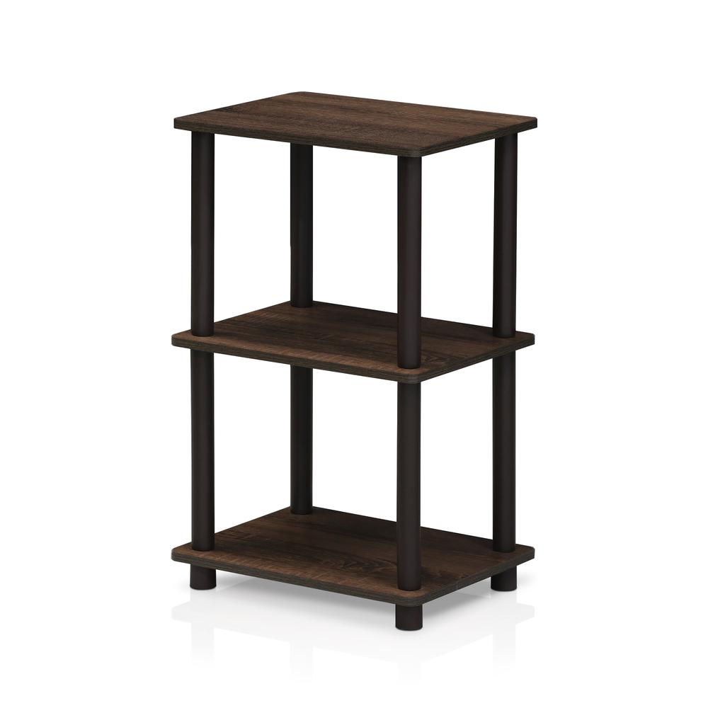 Furinno 16101WN/BR Turn-N-Tube 2 Space Shelf, Walnut/Brown. The main picture.