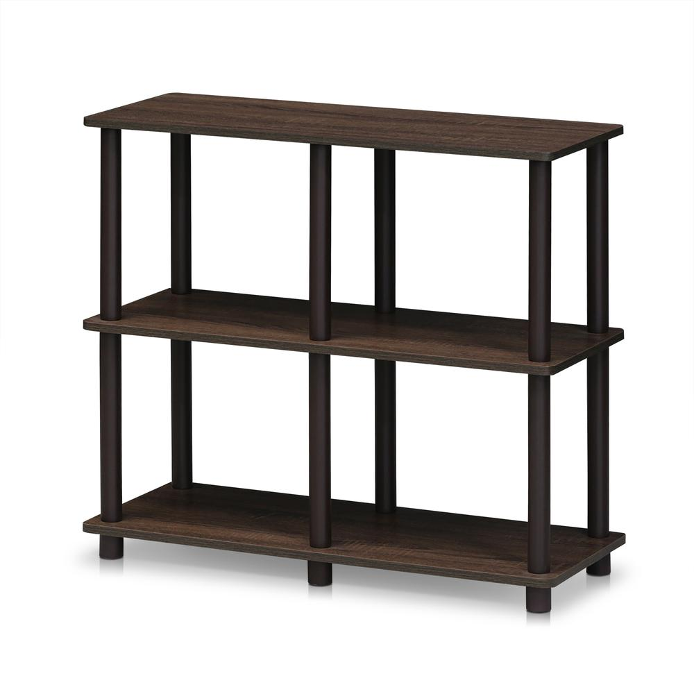 Furinno 16103WN/BR Turn-N-Tube 4 Space Shelf, Walnut/Brown. The main picture.