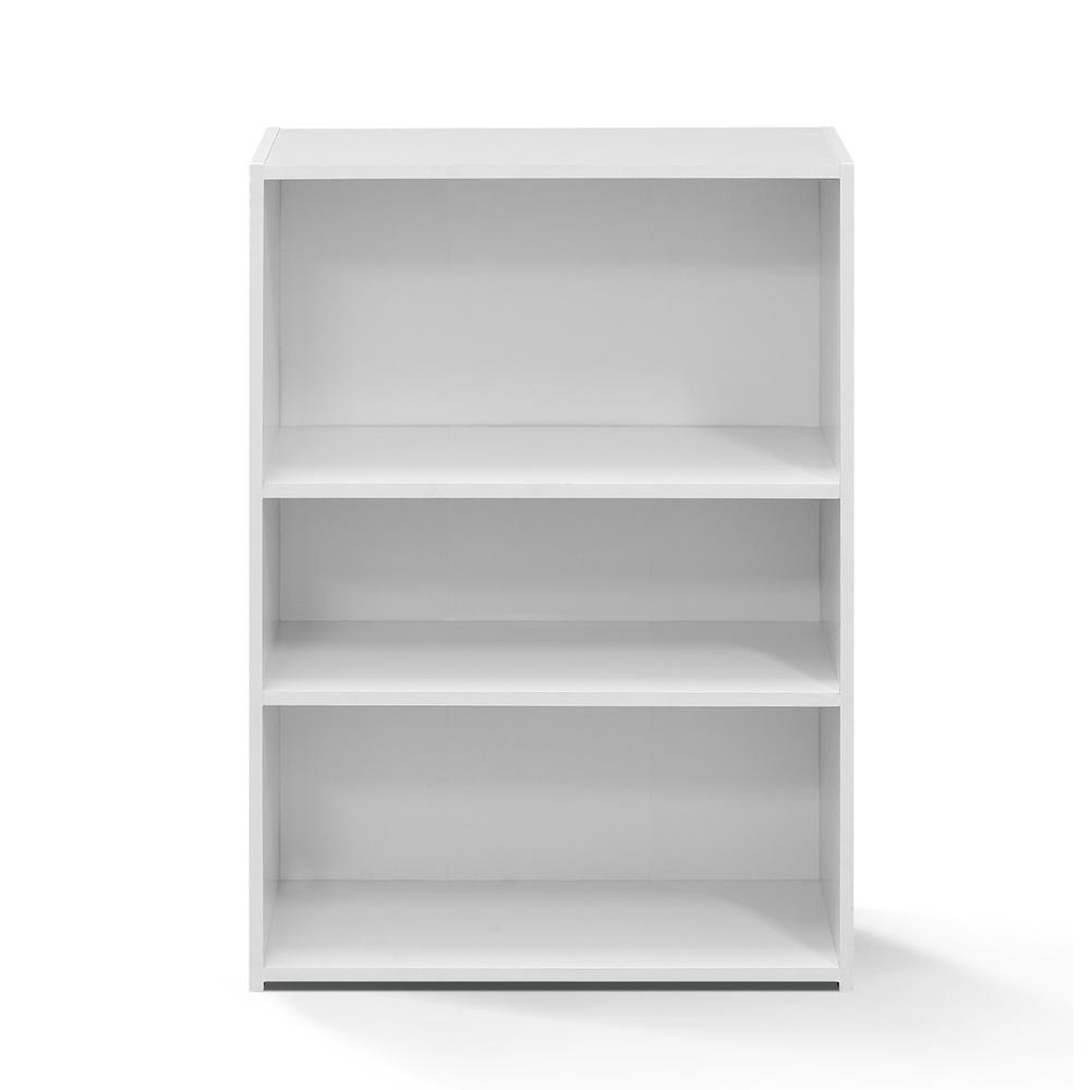 Furinno Wright 3-Shelf Bookcase, Soft White. Picture 3