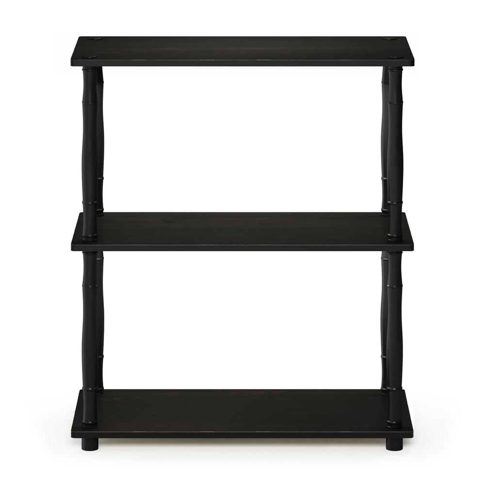 Furinno Turn-N-Tube 3-Tier Compact Multipurpose Shelf Display Rack with Classic Tube, Espresso/Black. Picture 3