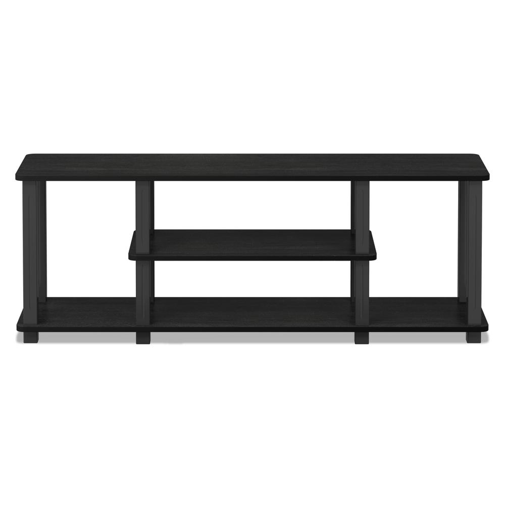 Turn-S-Tube No Tools 3D 3-Tier Entertainment TV Stands with Square Tube, Americano/Black. Picture 3