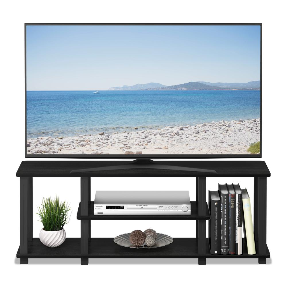 Turn-S-Tube No Tools 3D 3-Tier Entertainment TV Stands with Square Tube, Americano/Black. Picture 5
