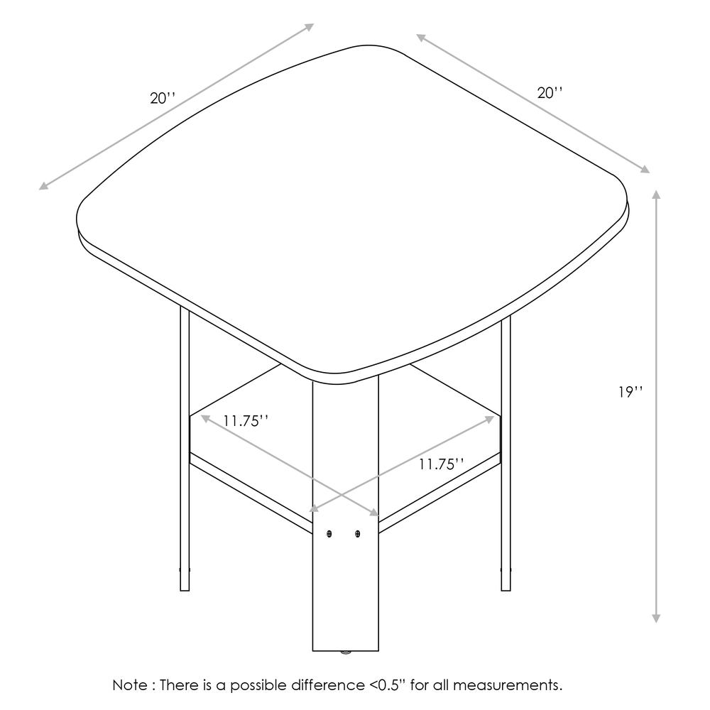 Furinno Simple Design End/SideTable, Pink/White. Picture 2