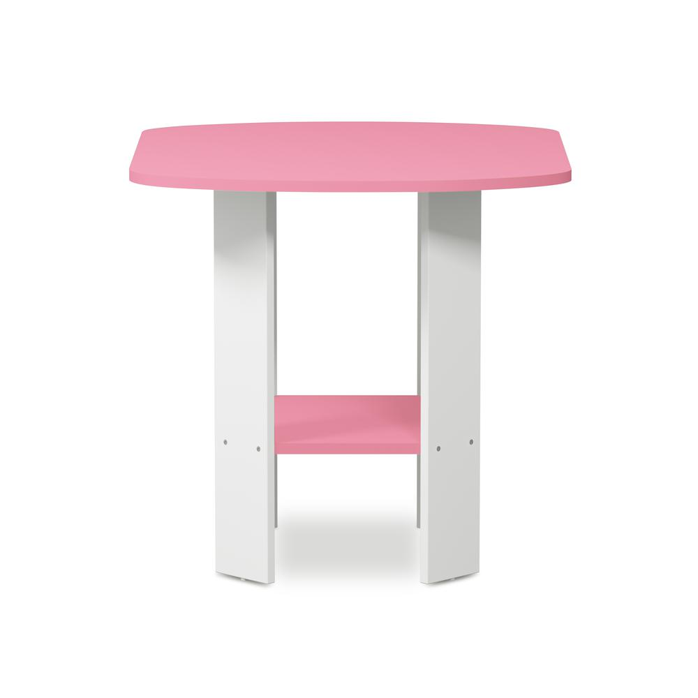 Furinno Simple Design End/SideTable, Pink/White. Picture 3
