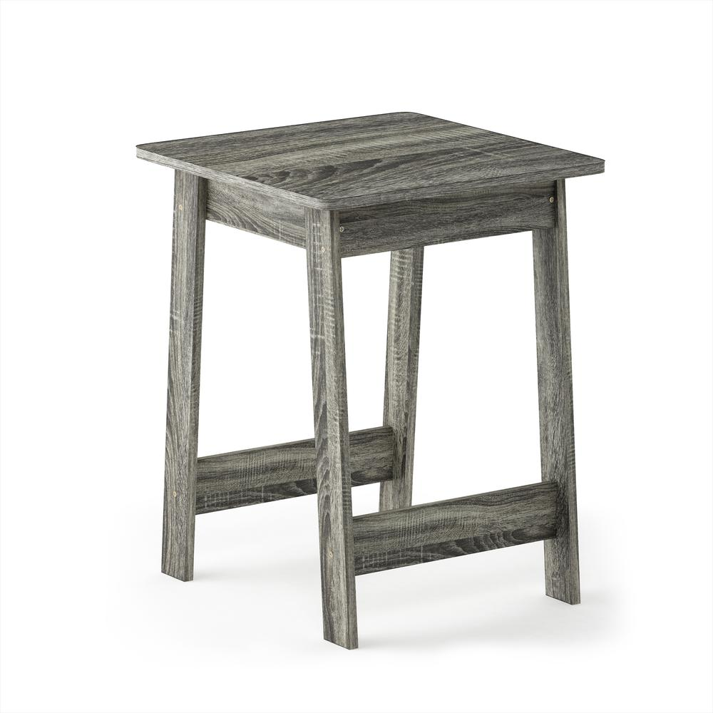 Furinno Beginning End Table, French Oak Grey 18039GYW. Picture 1
