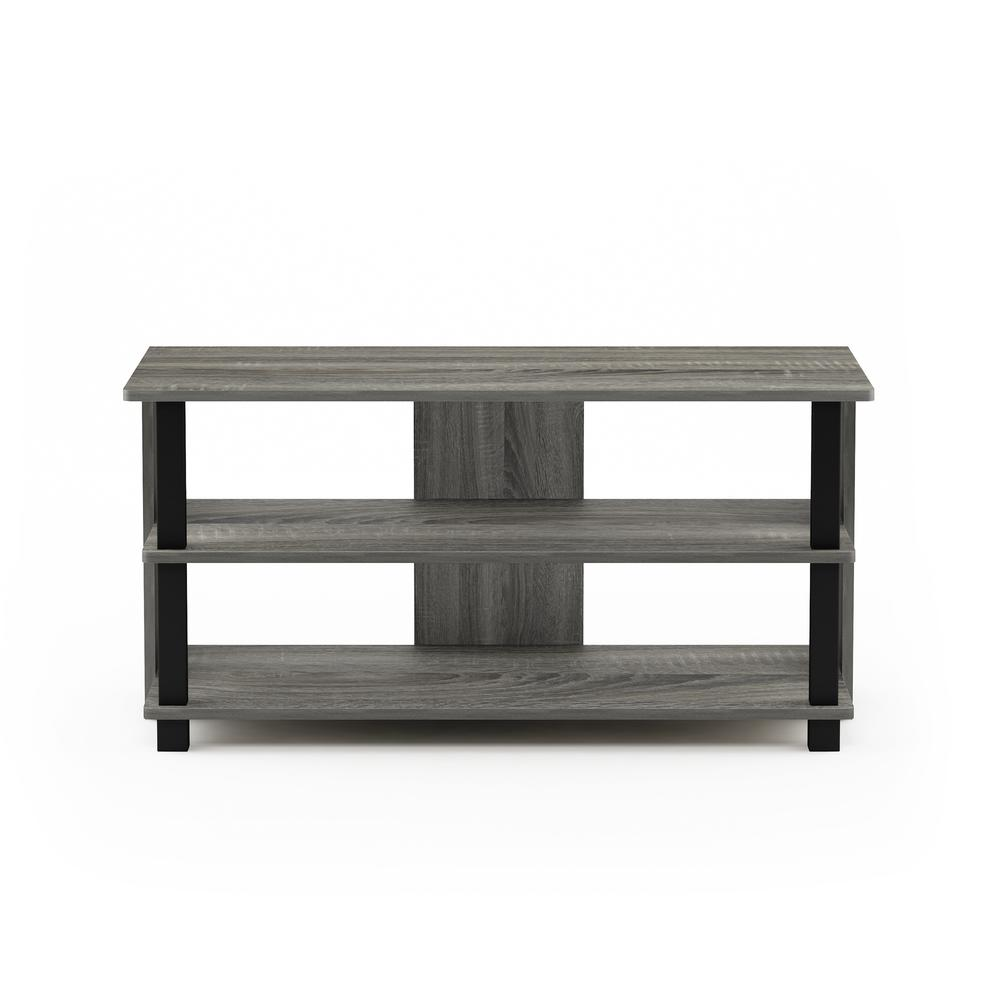 Sully 3-Tier TV Stand for TV up to 40, French Oak Grey/Black, 17076GYW/BK. Picture 3