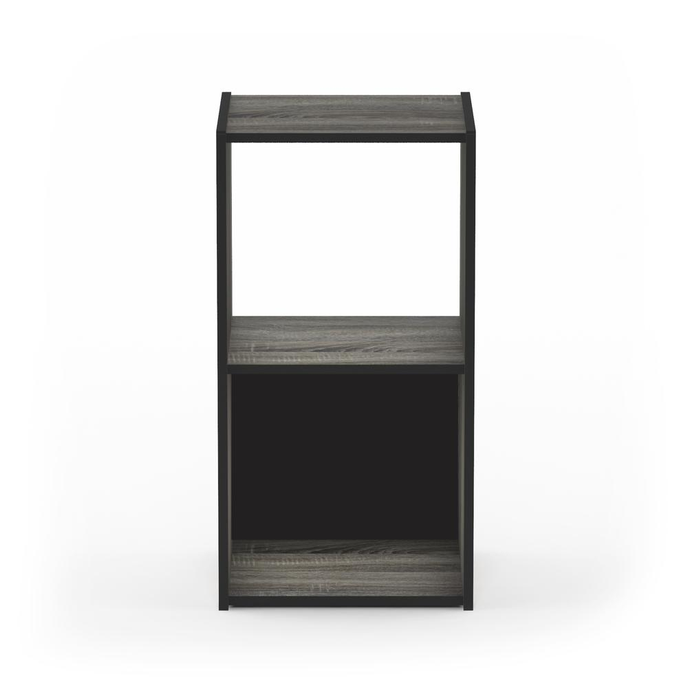 Pelli Cubic Storage Cabinet, 2x1, French Oak Grey/Black, 18049GYW. Picture 3