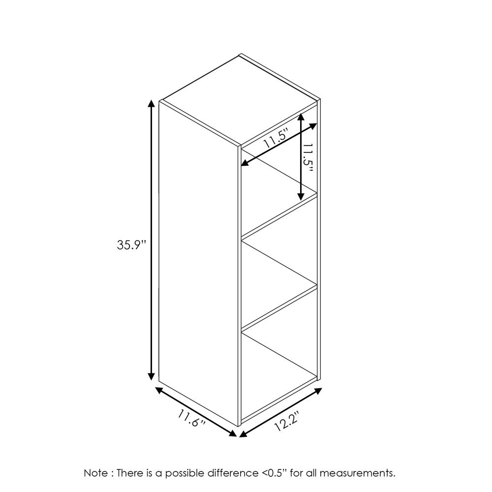 Pelli Cubic Storage Cabinet, 3x1, Espresso, 18050EX. Picture 2
