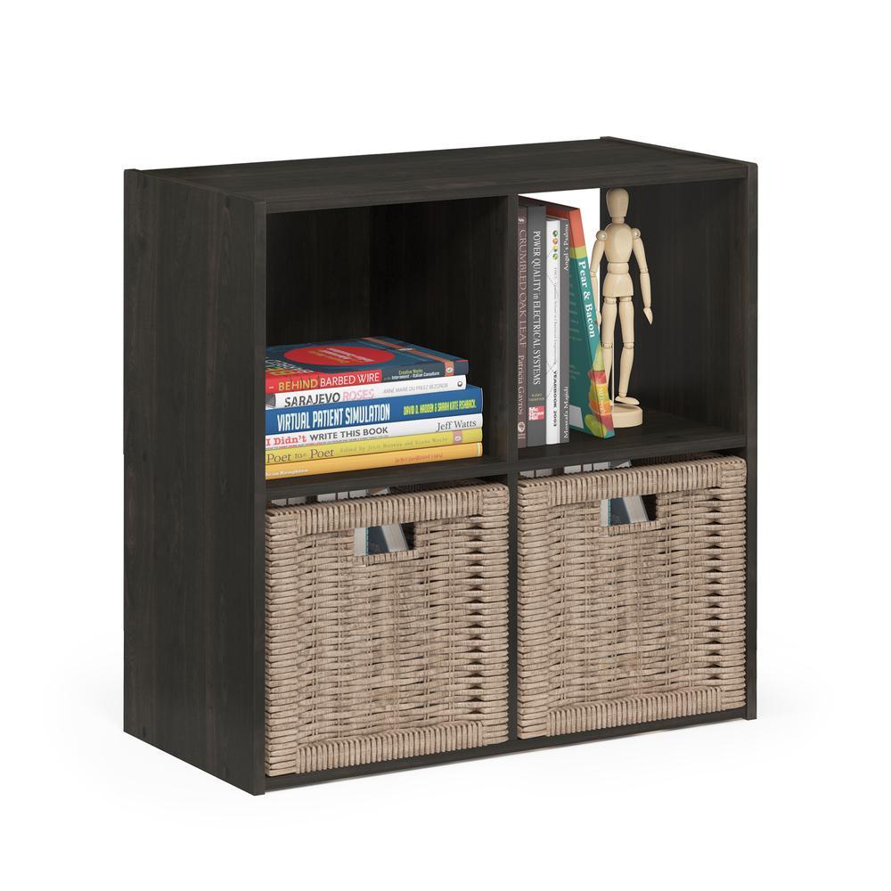 Pelli Cubic Storage Cabinet, 2x2, Espresso, 18051EX. Picture 4