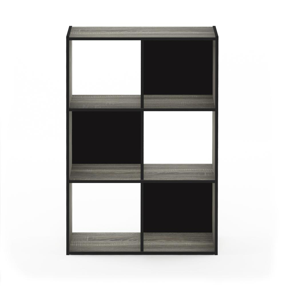 Pelli Cubic Storage Cabinet, 3x2, French Oak Grey/Black, 18053GYW. Picture 3