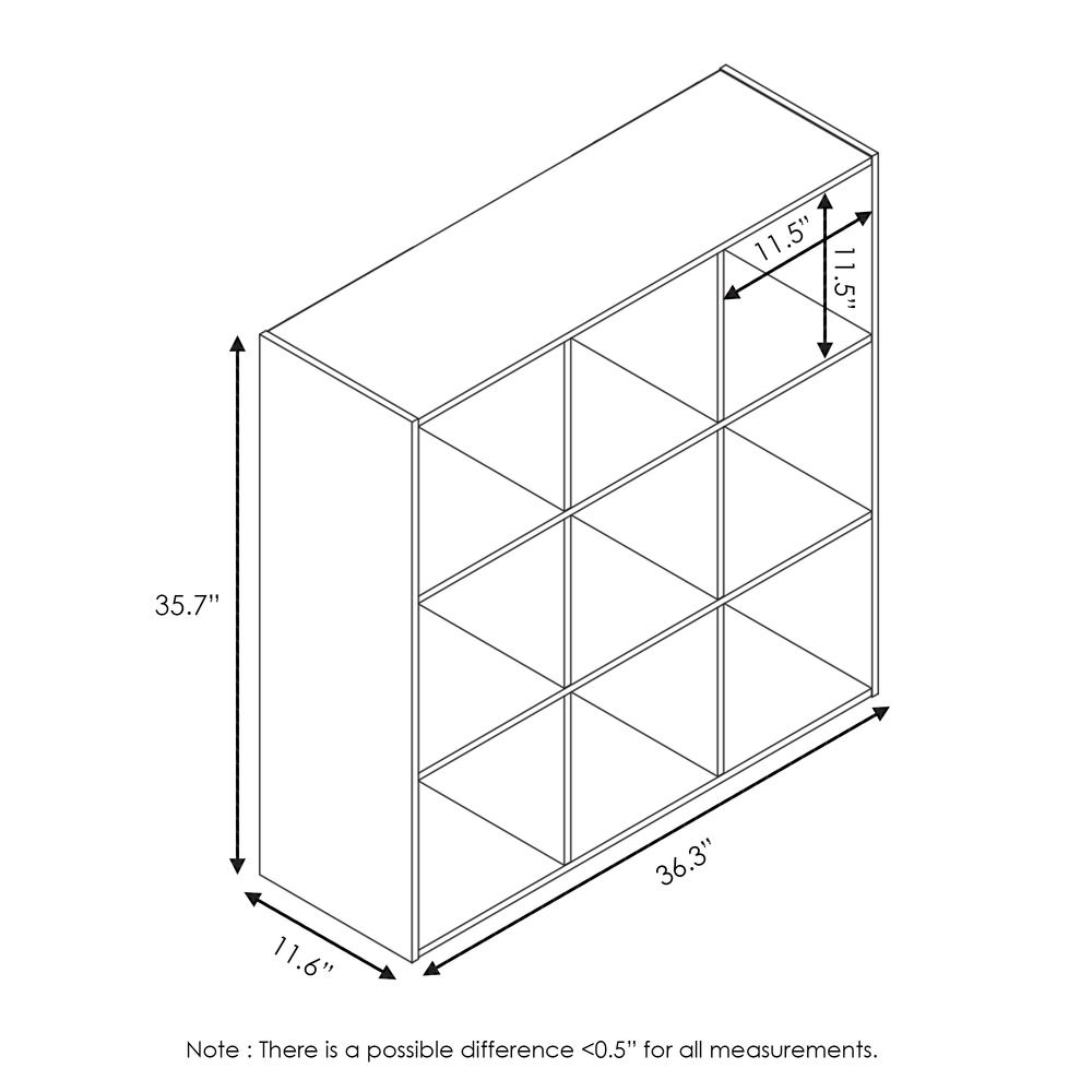 Pelli Cubic Storage Cabinet, 3x3, French Oak Grey/Black, 18055GYW. Picture 2