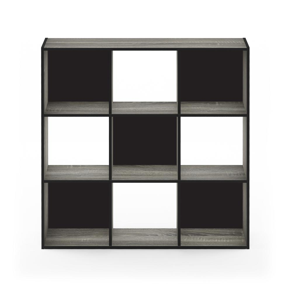 Pelli Cubic Storage Cabinet, 3x3, French Oak Grey/Black, 18055GYW. Picture 3