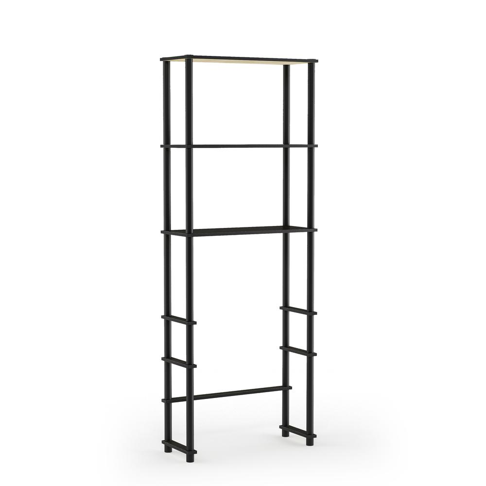 Turn-N-Tube Toilet Space Saver with 3 Shelves, Espresso/Black, 99763EX/BK. Picture 1