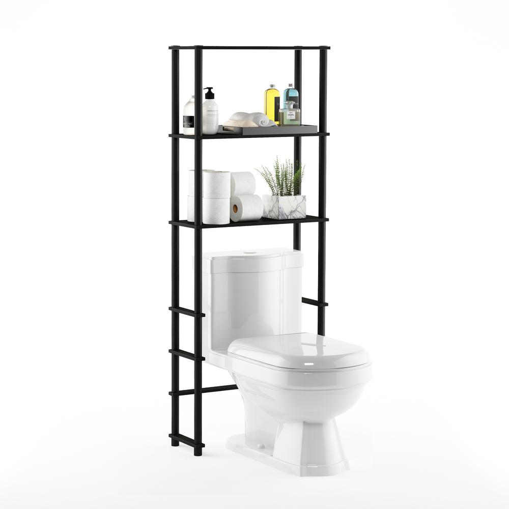 Turn-N-Tube Toilet Space Saver with 3 Shelves, Espresso/Black, 99763EX/BK. Picture 4