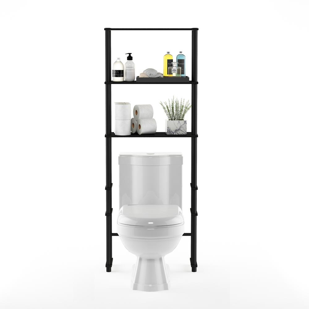Turn-N-Tube Toilet Space Saver with 3 Shelves, Espresso/Black, 99763EX/BK. Picture 5