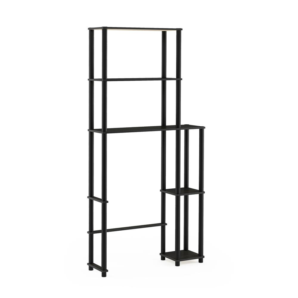 Turn-N-Tube Toilet Space Saver with 5 Shelves, Espresso/Black, 17050EX/BK. Picture 1