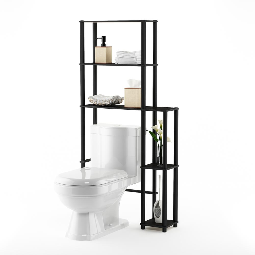 Turn-N-Tube Toilet Space Saver with 5 Shelves, Espresso/Black, 17050EX/BK. Picture 4