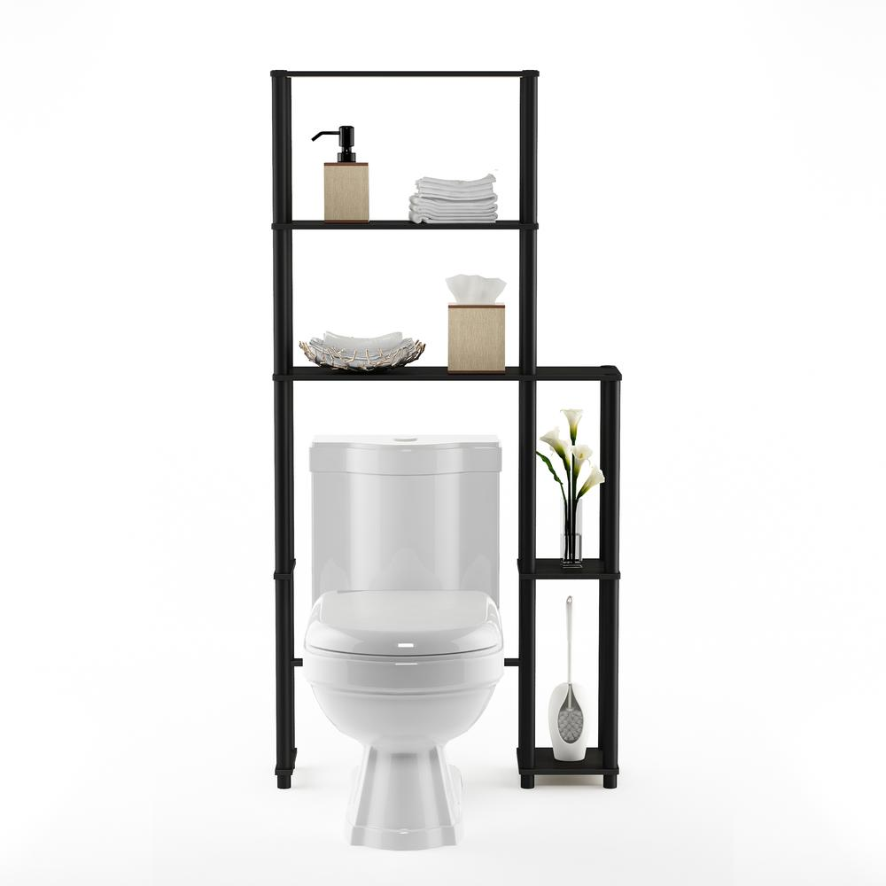 Turn-N-Tube Toilet Space Saver with 5 Shelves, Espresso/Black, 17050EX/BK. Picture 5