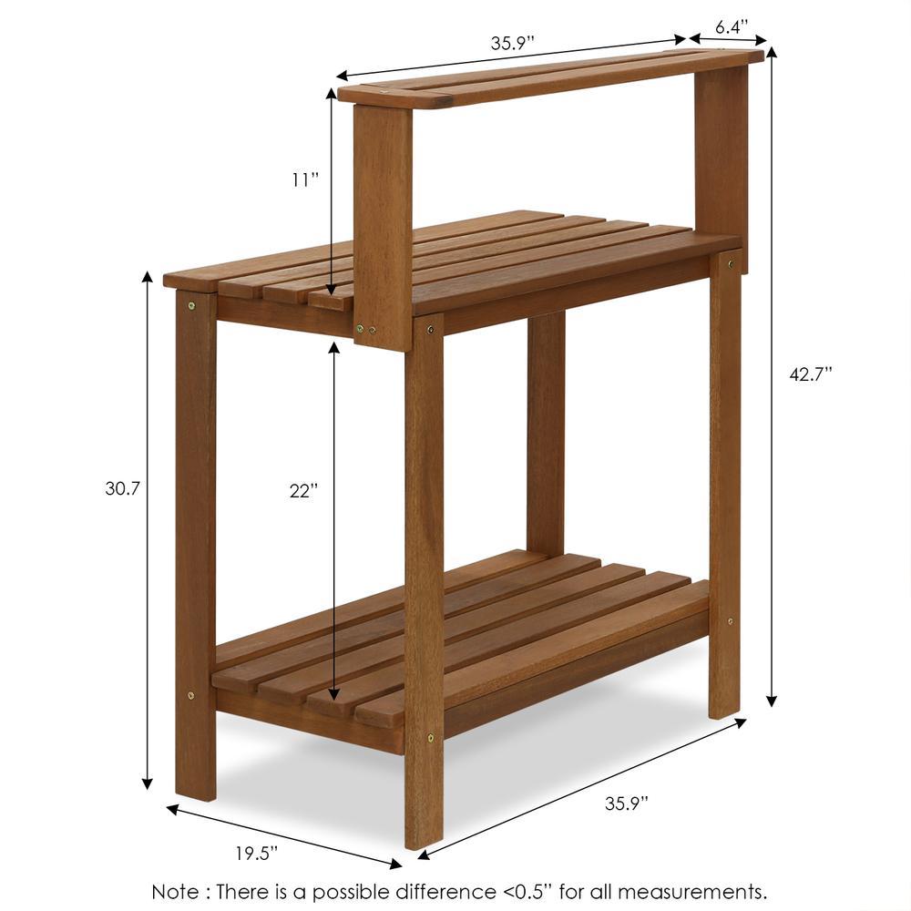 Furinno Alder Pine Solid Wood 4-Tier Shoe Rack, Espresso. Picture 2