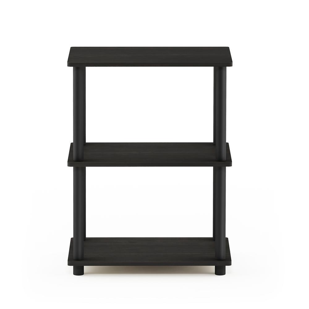 Furinno Turn-N-Tube No Tool 3-Tier Storage Shelf, Espresso/Black. Picture 3