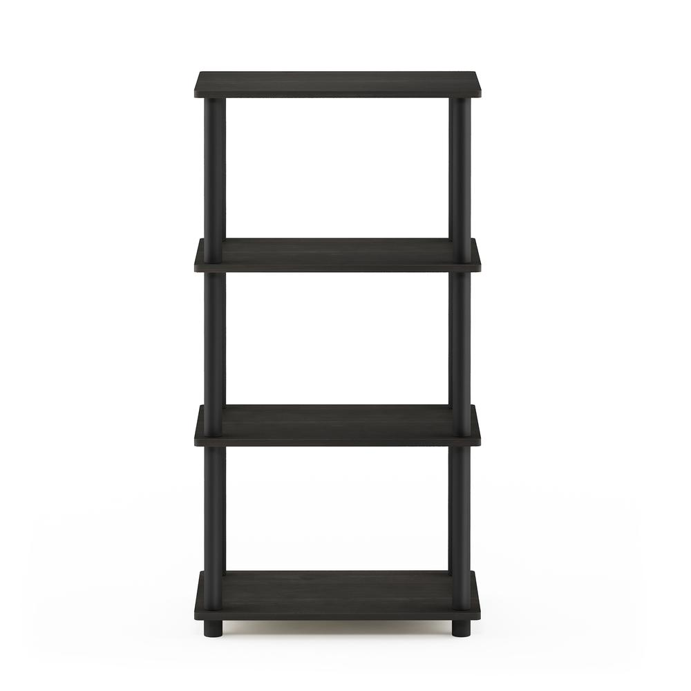 Furinno Turn-N-Tube No Tool 4-Tier Storage Shelf, Espresso/Black. Picture 3