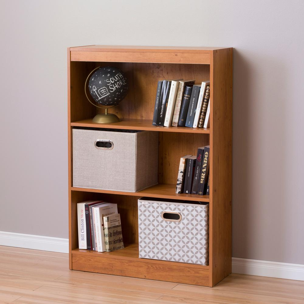 South Shore Axess 3-Shelf Bookcase, Country Pine