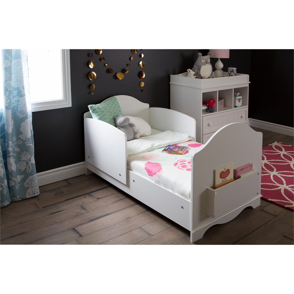 South Shore Savannah Toddler Bed Pure White