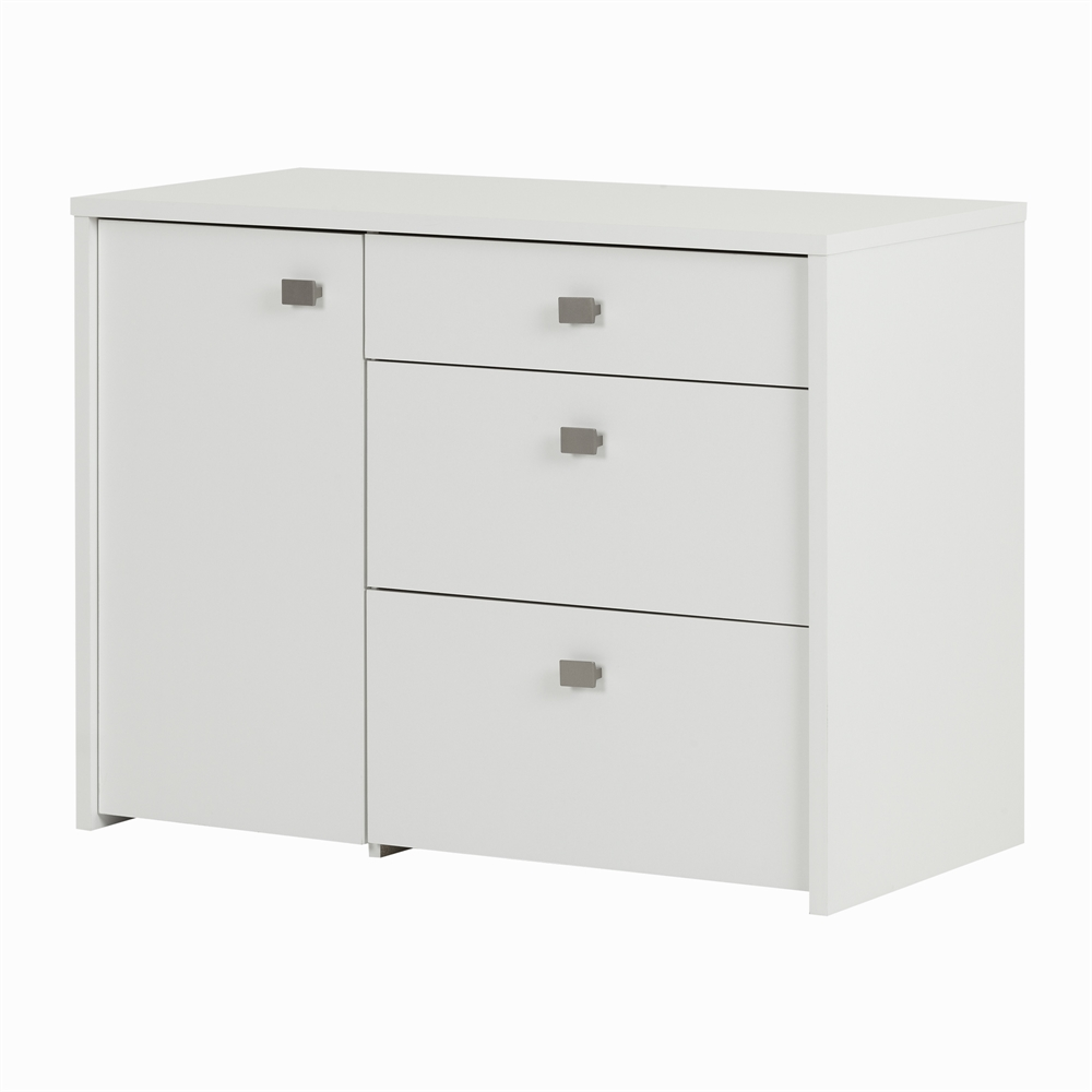 South shore interface storage unit with file drawer pure for South shore artwork craft table with storage pure white
