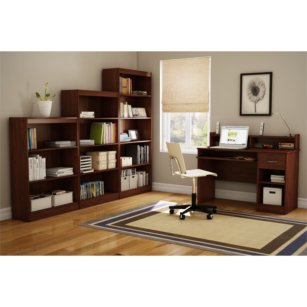 south shore axess desk with keyboard tray royal cherry